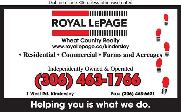Royal LePage Wheat Country Realty - Real Estate Digital Ad