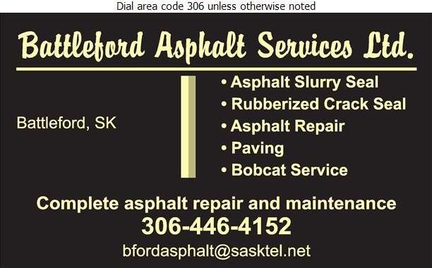 Battlefords Asphalt Services Ltd - Paving Contractors Digital Ad