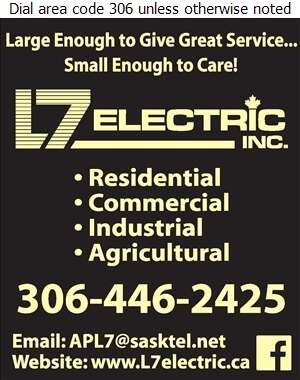 L7 Electric Inc - Electric Contractors Digital Ad