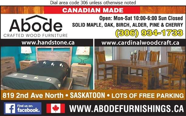 ABODE Crafted Wood Furnishings - Furniture Dealers Retail Digital Ad
