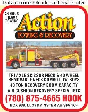 Action Towing & Recovery Service - Towing & Boosting Service Digital Ad