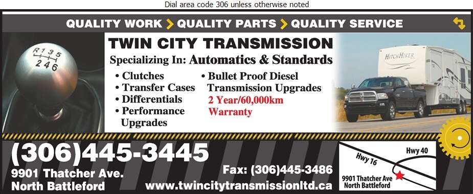 Twin City Transmission - Transmissions Auto Digital Ad