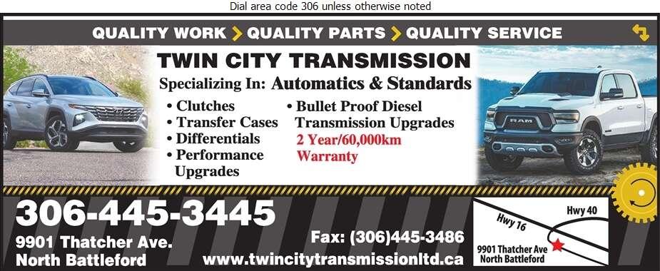 Twin City Transmission - Transmissions Auto Digital Ad