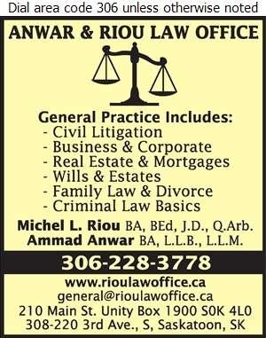 Riou Law Office - Lawyers Digital Ad