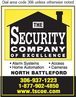 The Security Company of Excellence - North Battleford - Alarm Systems Digital Ad