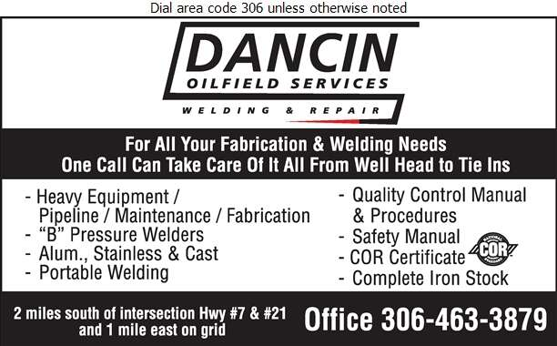 Dancin Oilfield Services - Welding Digital Ad