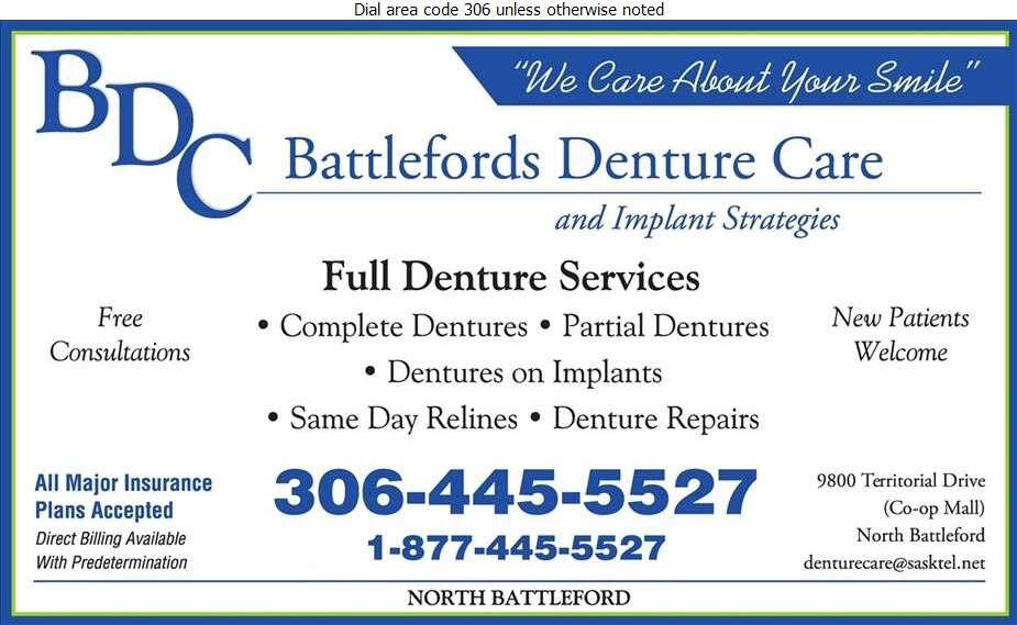 Battlefords Denture Care - Denturists Digital Ad