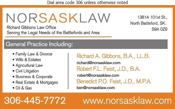 NORSASKLAW (Richard Gibbons) - Lawyers Digital Ad