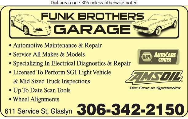 Funk Brothers Garage - Auto Repairing Digital Ad