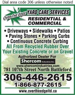 Over The Edge Yard Care Services - Concrete Contractors Digital Ad