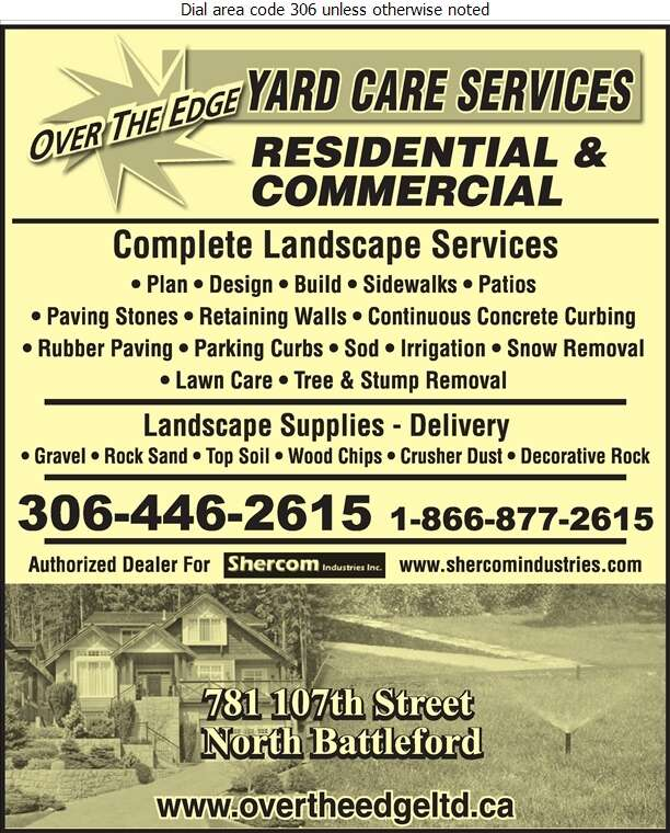 Over The Edge Yard Care Services - Landscape Contractors & Designers Digital Ad