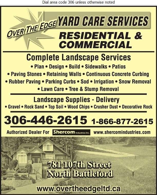 Over The Edge Yard Care Services - Landscape Contractors & Designers Digital Ad