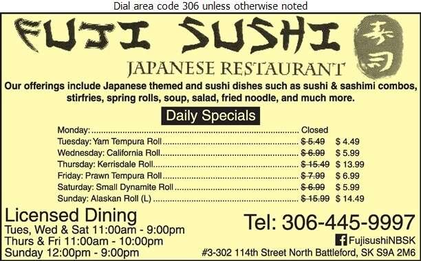 Fuji Sushi - Restaurants Digital Ad
