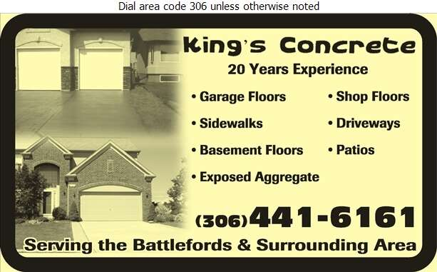 King's Concrete - Concrete Contractors Digital Ad