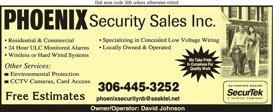 Phoenix Security Sales Inc - Security Control Equipment & Systems Digital Ad