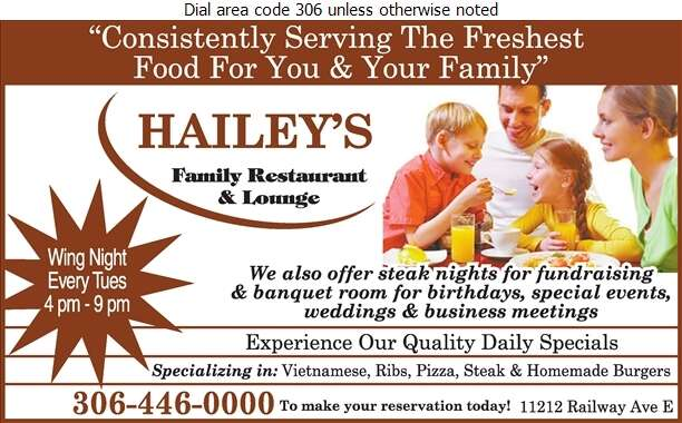 Hailey's - Restaurants Digital Ad