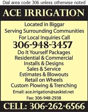 Ace Irrigation - Sprinklers Garden & Lawn Digital Ad