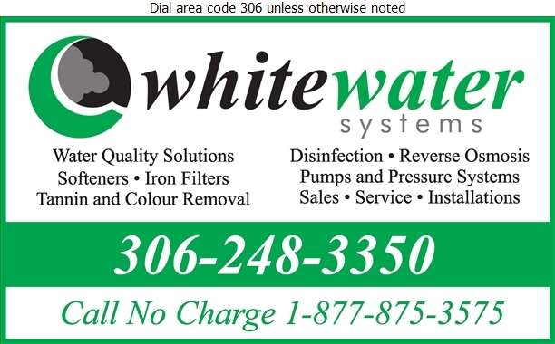 White Water Systems - Water Treatment Equipment, Service & Supplies Digital Ad