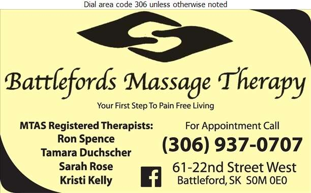 Battlefords Massage Therapy - Massage Therapists Digital Ad
