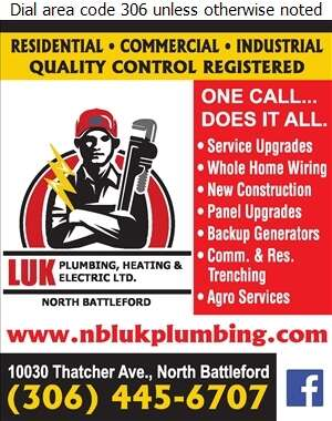 Luk Plumbing Heating & Electric Ltd - Electric Contractors Digital Ad