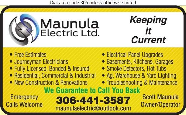Maunula Electric LTD - Electric Contractors Digital Ad