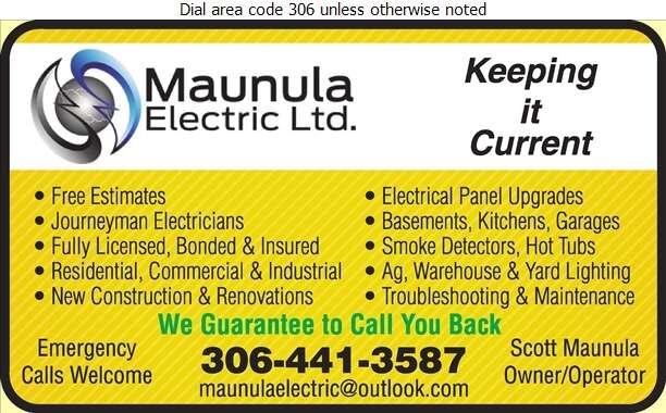 Maunula Electric - Electric Contractors Digital Ad