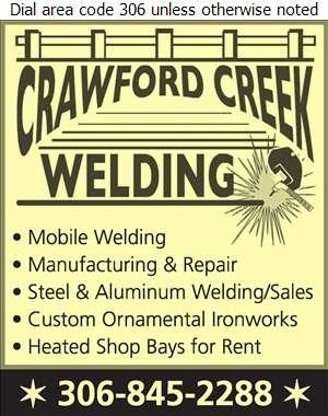 Crawford Creek Welding Ltd - Welding Digital Ad