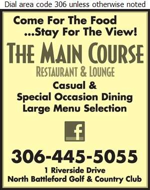 The Main Course Restaurant And Lounge - Restaurants Digital Ad