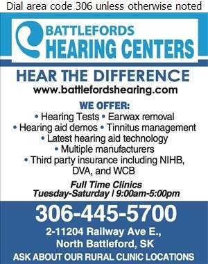 Battlefords Hearing Centers - Hearing Aid Accessories Sales & Service Digital Ad