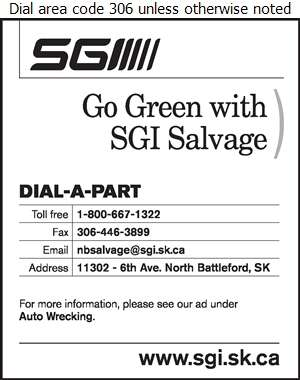SGI Salvage - Auto Parts & Supplies Retail Digital Ad