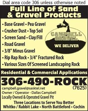 Campbell Gravel - Sand & Gravel Digital Ad