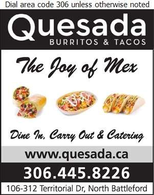 Quesada Burritos & Tacos North Battleford - Restaurants Digital Ad