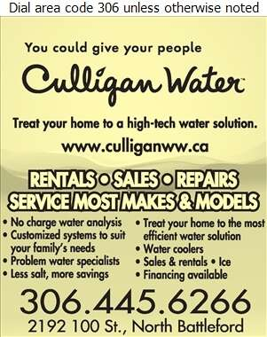 Culligan North Battleford - Water Companies Bottled, Bulk, Etc. Digital Ad