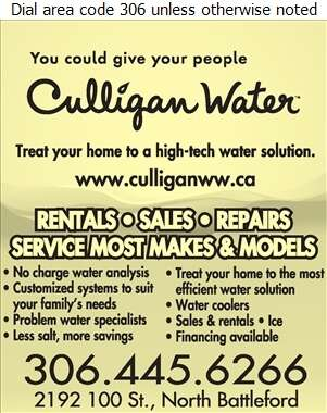 Culligan North Battleford - Water Treatment Equipment, Service & Supplies Digital Ad