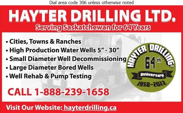 Hayter Drilling Ltd (Shop) - Water Well Drilling & Service Digital Ad
