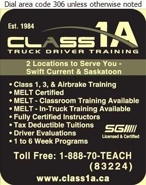 Class 1A Truck Driver Training - Driving Instruction Digital Ad