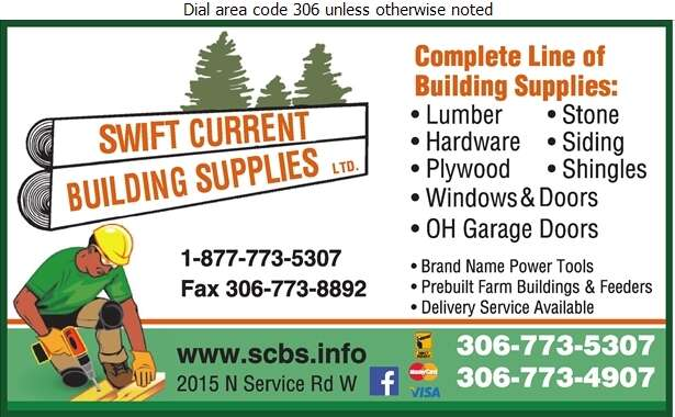 Swift Current Building Supplies (1970) Ltd - Builders Supplies Retail Digital Ad