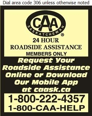 CAA Saskatchewan - Towing & Boosting Service Digital Ad