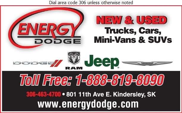 Energy Dodge Ltd (Sales) - Auto Dealers New Cars Digital Ad