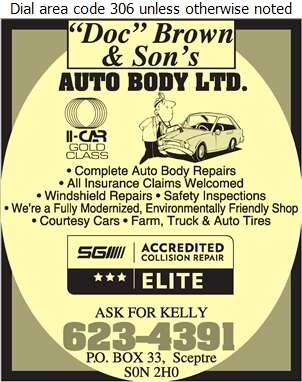 Doc Brown & Son's Auto Body Ltd - Auto Body Repairing Digital Ad