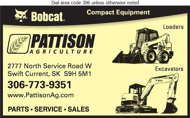 Pattison Agriculture Limited - Contractors Equipment Supplies & Service Digital Ad