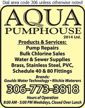 Aqua Pumphouse 2014 Ltd - Pumps Digital Ad