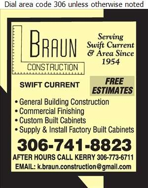 Braun Construction - Contractors General Digital Ad
