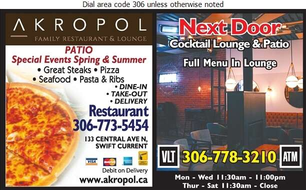 Akropol Family Restaurant & Dining Room (Next Door Lounge) - Restaurants Digital Ad