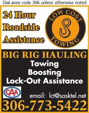 Low Cost Towing (2014) - Towing & Boosting Service Digital Ad