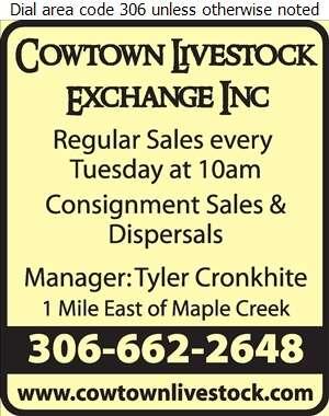 Cowtown Livestock Exchange Inc - Livestock Dealers Digital Ad