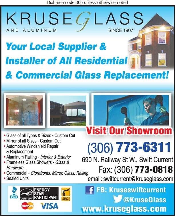 Kruse Glass & Aluminum - Glass Auto, Float, Plate, Window Etc Digital Ad