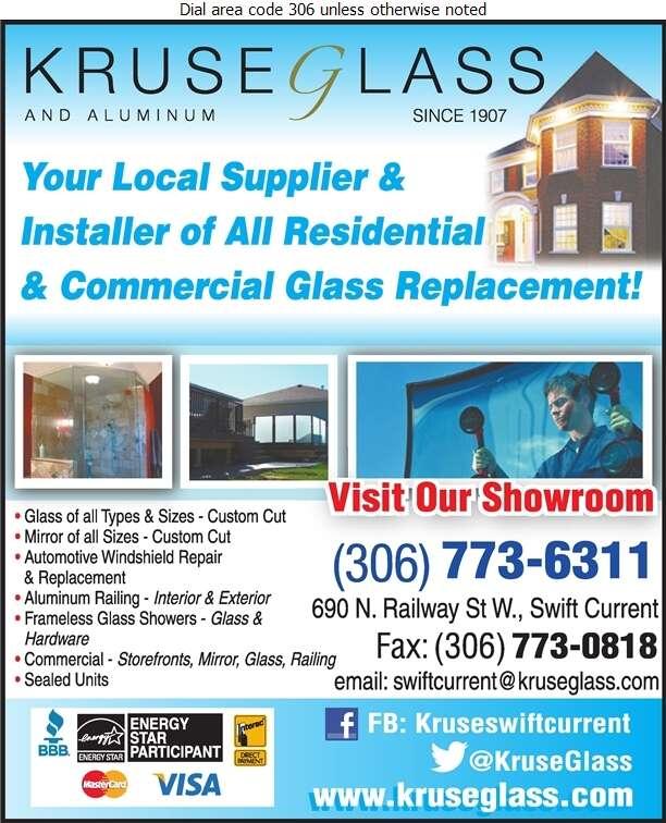 Kruse Glass & Aluminum - Glass Auto, Float, Plate, Window Etc Digital Ad