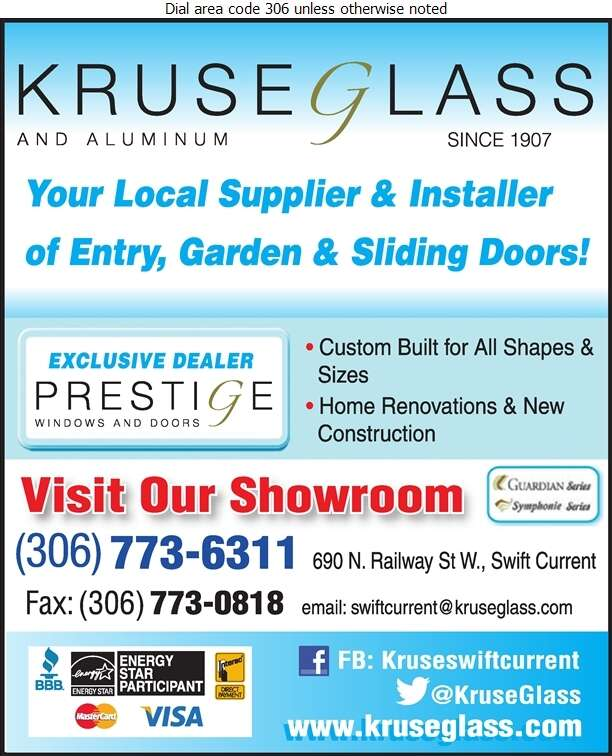Kruse Glass & Aluminum - Doors Household Sales & Service Digital Ad