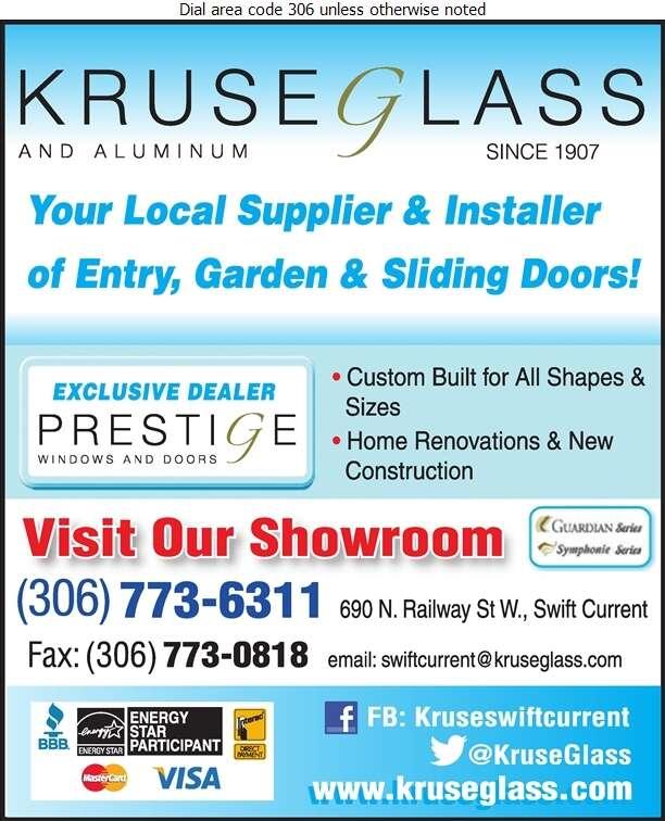 Kruse Glass & Aluminum - Doors Household Sales & Service Digital Ad